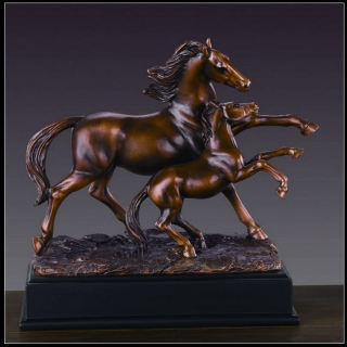 Horse With Foal Statue Sculpture 9