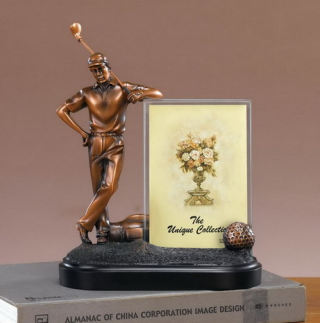 Golfer Picture Frame Sculpture