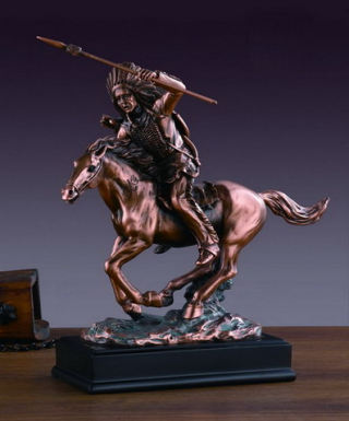 Indian Chief On Horse Sculpture 11