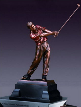 Golfer in Golf Swing Sculpture 14
