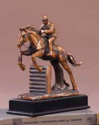 Jockey Horse Competition Jumping Sculpture
