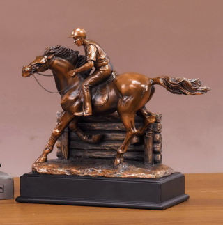 Horse and Jockey Competition Sculpture