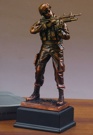 Army Man Military Sculpture 11.5