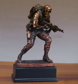 Marine Military Man Sculpture 10