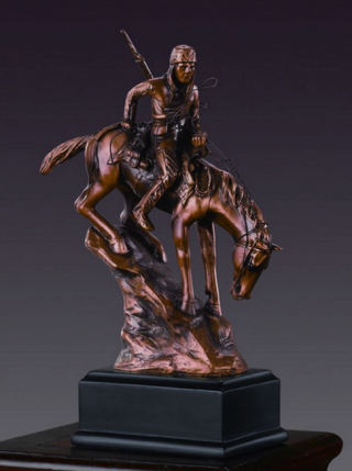 American Indian Sculpture on Horse 7