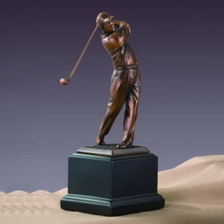 Golfer Trophy Sculpture 10.5