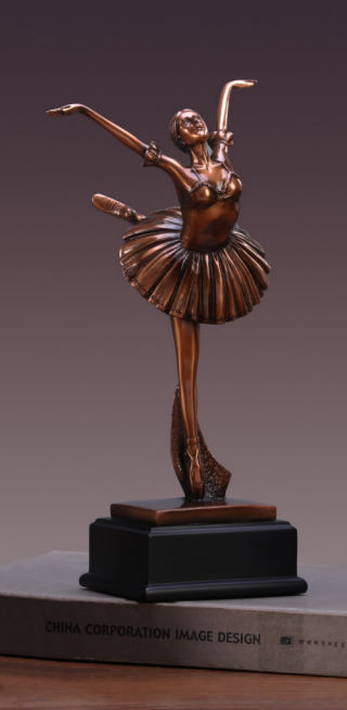 Ballet Dancer Sculpture on Black Base 11.5