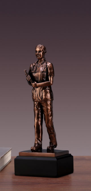 Female Doctor Woman Sculpture
