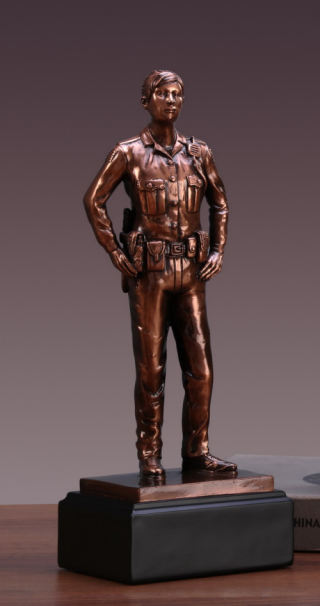 Police Officer Woman Sculpture