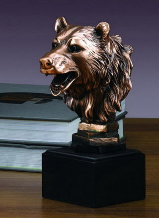 Bear Head Sculpture Portrait Bust 8