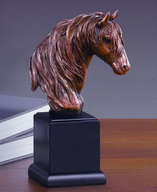 Horse Head Bust Statue 9