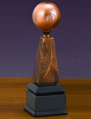 Billiard Ball Trophy Sculpture