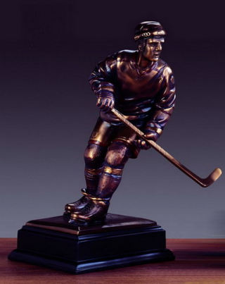 Hockey Player Statue Sculpture 13.5