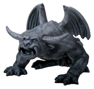 Bull Horned Gargoyle Sculpture