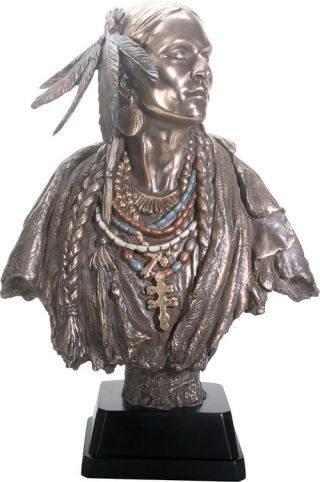 Large Native American Indian Woman Bust