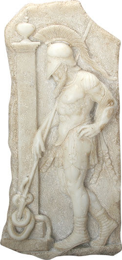 Sepulchral Warrior Frieze Wall Plaque Statue