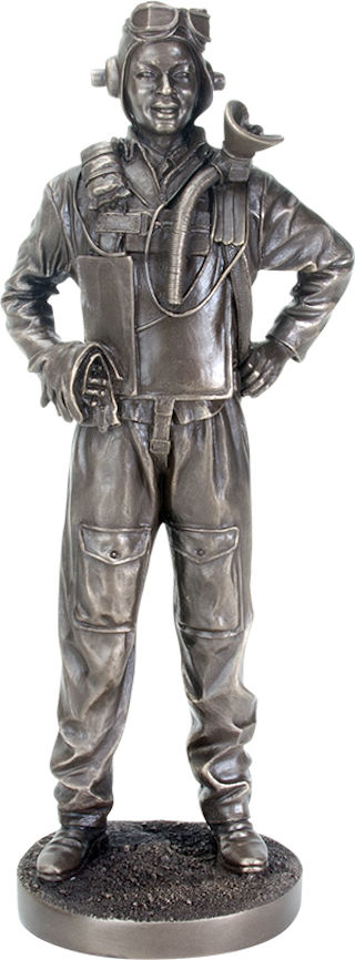 Airman World War II Soldier Sculpture