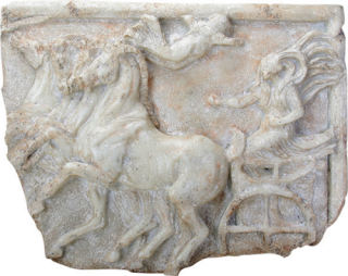 Victory of the Four Horse Chariot Race Plaque