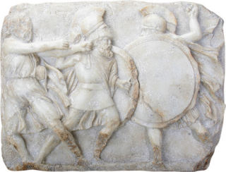 Greek Hoplites in Battle Wall Frieze Replica