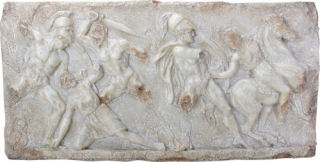 Battle between Greeks and Amazons Frieze