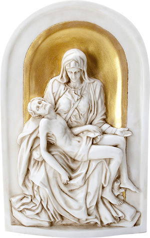 Pieta Wall Plaque Small