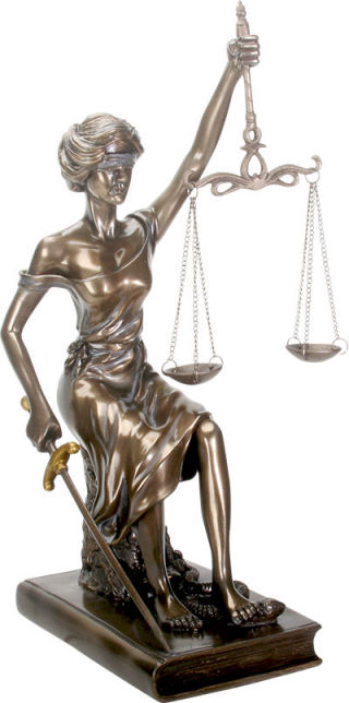 Sitting Blind Lady Justice Sculpture 11.5 bec91605d8