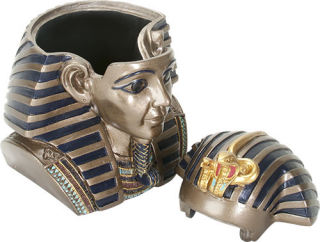 King Tut Head Box Sculpture