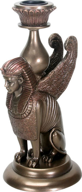Sphinx Candle Holder Sculpture