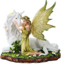 Fairy with Unicorn Statue  5.75