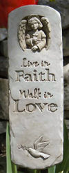 Angel & Dove Faith And Love Plaque Sculpture