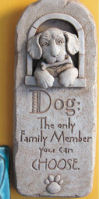 Family Dog Plaque Wall Sculpture