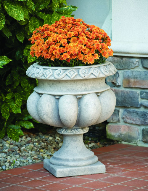 Fancy Scalloped Garden Urn Planter Cement
