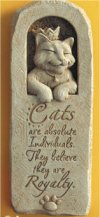 Feline Philosophy Cat Lovers Plaque Wall Sculpture