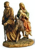 Flight into Egypt Colored Figurine