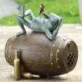 Connoisseur Frog Garden Sculpture Blue-tooth Speaker