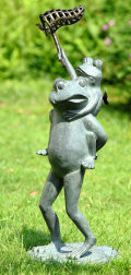 Butterfly Chasers Frogs Garden Sculpture