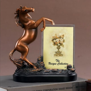 Horse Picture Photo Frame Sculpture