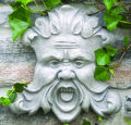 North Wind Wall Mask Plaque Sculpture