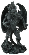 Fighting Gargoyle Warrior Statue