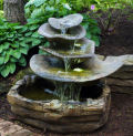 Giant Leaf Cement Garden Fountain with Light