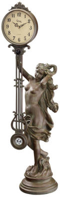 Goddess Of Time Pendulum Clock Sculpture