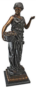 Goddess of Nature Cast Bronze Garden Sculpture