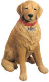 Golden Retriever Dog Sculpture Life-Size