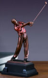Golfer Sportman in Swing Sculpture