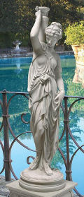 Greek Goddess with Urn Garden Statue