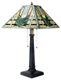 Green Arrow Mission Lamp Inspired by Louis Comfort Tiffany
