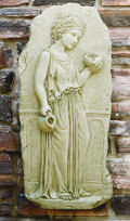 Hebe Relief Wall Piped Water Feature Sculpture