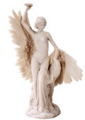 Greek Goddess Hebe and Eagle Sculpture  11.75