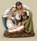 Holy Family Nativity Hand Painted Sculpture