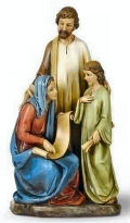Holy Family Teaching Jesus Sculpture